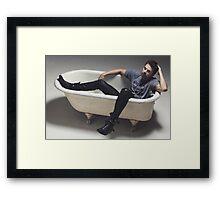 Sebastian Stan - Bathtime Framed Print