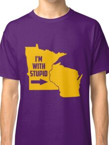 Limited Edition Minnesota Vikings I'm With Stupid Classic T-Shirt