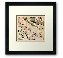 Map Of The Adriatic Sea 1700 Framed Print
