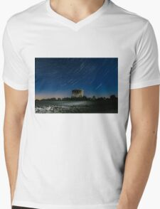 Jodrell Bank Star Trails Mens V-Neck T-Shirt