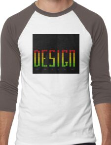 Graphic Design Men's Baseball ¾ T-Shirt