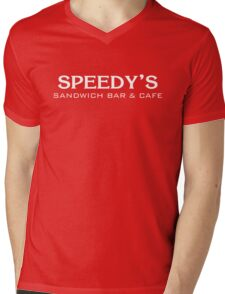 Speedy's Sandwich Bar & Cafe Mens V-Neck T-Shirt