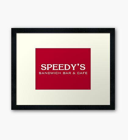 Speedy's Sandwich Bar & Cafe Framed Print