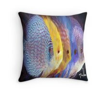 Four Fish by Sachse Throw Pillow