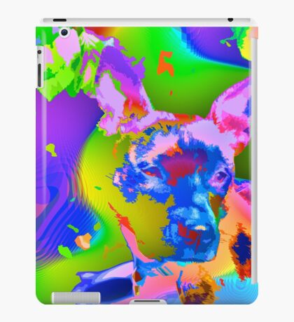Psychedelic dog iPad Case/Skin