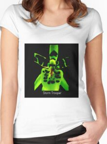 Storm Trooper - Orchid Alien Discovery Women's Fitted Scoop T-Shirt