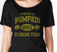 Pumpkin Spice Drinking Team Halloween Women's Relaxed Fit T-Shirt