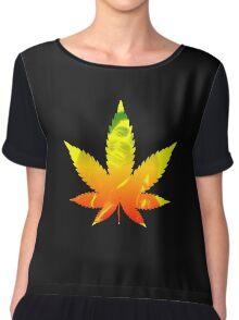 Legalize weed marijuana ganja Bob Marley shirt rastafari Chiffon Top