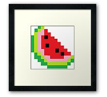 Minecraft Watermelon Framed Print