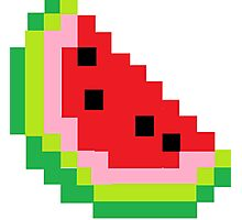 Minecraft Watermelon Photographic Print
