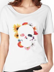 Skull in Bloom Women's Relaxed Fit T-Shirt