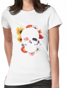 Skull in Bloom Womens Fitted T-Shirt