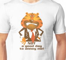 Angry Tiger Businessman Unisex T-Shirt