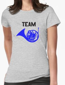 Team Blue French Horn – Ted, Robin, HIMYM Womens Fitted T-Shirt