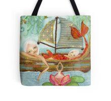 Floating mermaids Tote Bag