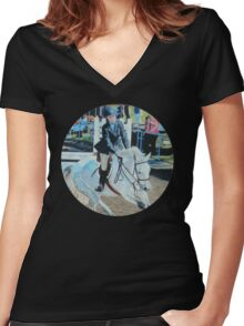Horseshow T-Shirt or Hoodie Women's Fitted V-Neck T-Shirt