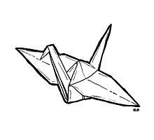 paper crane Photographic Print