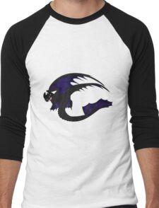 Galaxy Nightfury - Black Men's Baseball ¾ T-Shirt