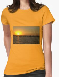 Sunset on the Water Womens Fitted T-Shirt