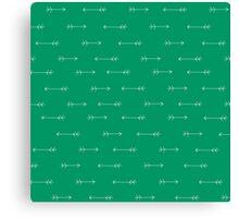 Arrows Verde Canvas Print