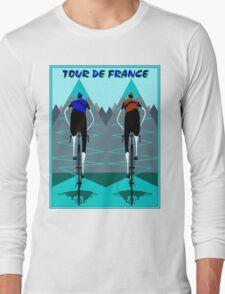TOUR DE FRANCE; Bicycle Racing Advertising Print Long Sleeve T-Shirt