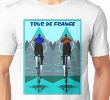 TOUR DE FRANCE; Bicycle Racing Advertising Print Unisex T-Shirt