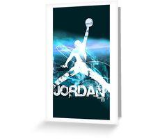BLUE Jordan Greeting Card