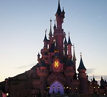 Disneyland Paris- Sunset by Margybear