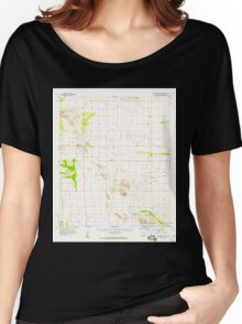 USGS TOPO Map Arizona AZ Squaretop Hills 315069 1958 62500 Women's Relaxed Fit T-Shirt