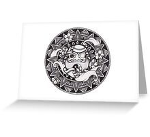 Daruma Mandala Greeting Card