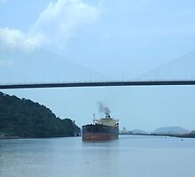 Panama Canal traffic by Maggie Hegarty