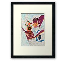 Dragon fighting robot  Framed Print
