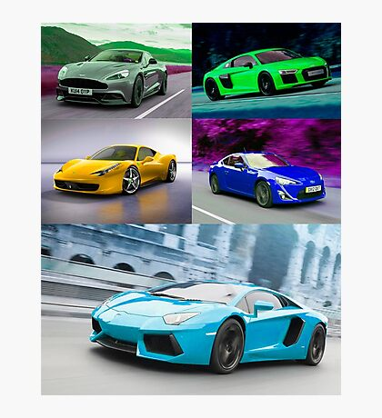 sports cars Photographic Print