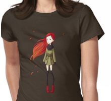 Autumn Breeze Womens Fitted T-Shirt