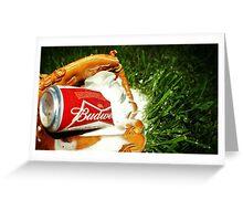 Budweiser Beer Greeting Card