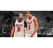 Dwyane Wade & Chris Bosh - South Beach Photographic Print