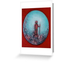 Paintbrush Warrior by 'Donna Williams' Greeting Card