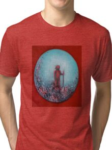 Paintbrush Warrior by 'Donna Williams' Tri-blend T-Shirt