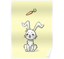 Bunny Carrot Poster