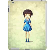 Girl in Blue iPad Case/Skin