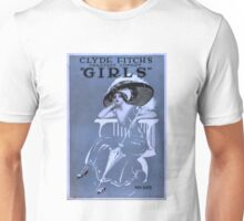 """Clyde Fitch's greatest comedy, """"Girls"""" -  Miss Kate - c.1910 Unisex T-Shirt"""