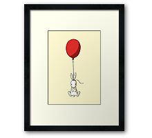 Balloon Bunny Framed Print