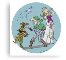 Zelda and Link - The Hyrule Band Canvas Print
