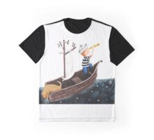 Sailing the Cosmic Sea Graphic T-Shirt