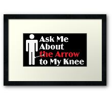 Skyrim - Ask Me About the Arrow (male) on dark Framed Print
