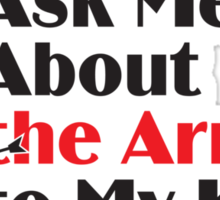 Skyrim - Ask Me About the Arrow (female) Sticker