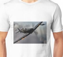 """Guns Blazing"" - Fantastic Digitial Painting of Spitfires in Battle / Spitfire WW2 Unisex T-Shirt"