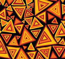 Ethnic style pattern with hand drawn triangles by kira-culufin
