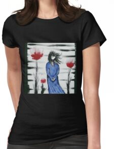Blue Woman  Womens Fitted T-Shirt