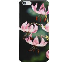 Pink Martagon Lilies iPhone Case/Skin